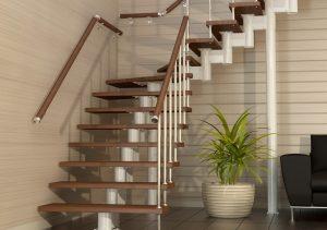 г-образная модульная лестница
