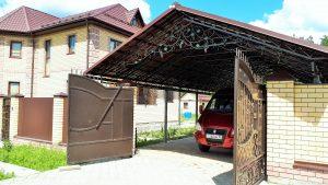 Кованые ворота и навес для авто Art-master.kovka (2)