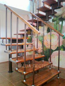 Модульная лестница на второй этаж легкая и красивая