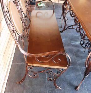 Кованая мебель для сада-лавочка