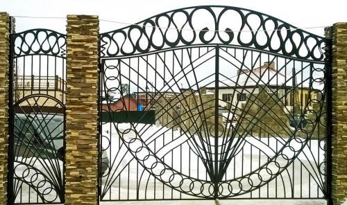Кованые ворота (стерео рисунок) КП Малая Италия (8)