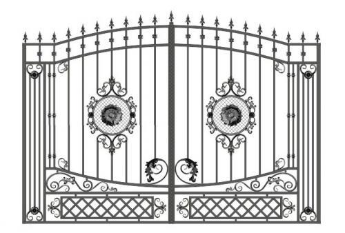 Ворота Art-Master.Kovka 1-012
