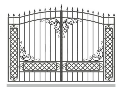 Ворота Art-Master.Kovka 1-018