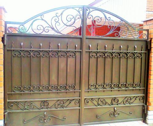 Кованые ворота г.Гусь-Хрустальный (10)