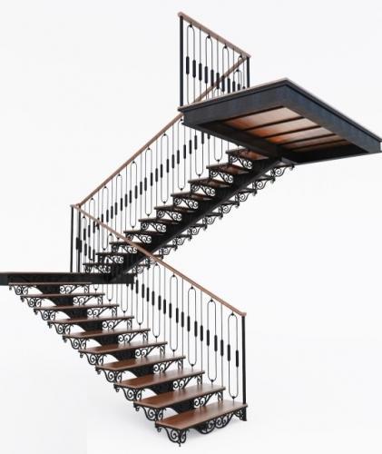 Art-Master Kovka лестницы на металлокаркасе (10)