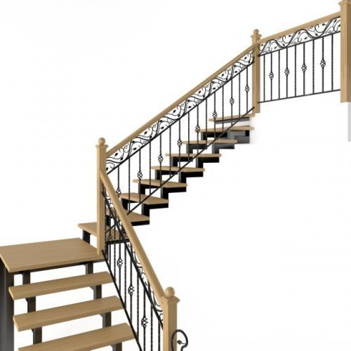 Art-Master Kovka лестницы на металлокаркасе (6)
