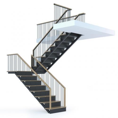 Art-Master Kovka лестницы на металлокаркасе (7)